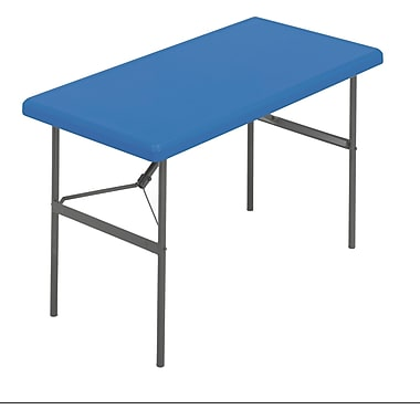 IndestrucTable TOO Folding Table,1200 Series - Blue - 24