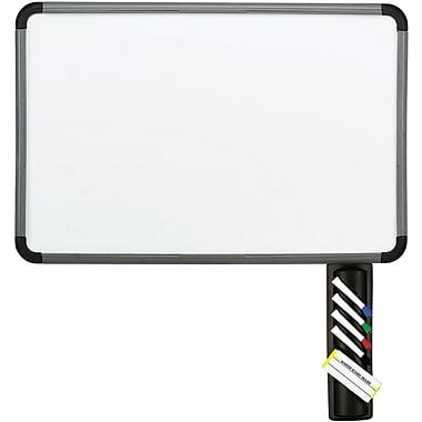 Iceberg Styrene Surface Dry Erase Board, Charcoal Gray Frame, 48