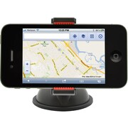 Aduro U-GRIP Plus Universal Dashboard Windshield Car Mount, Black/Red