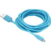 Aduro Fiber Cloth Sync & Charge 10' Micro USB Cable, Blue