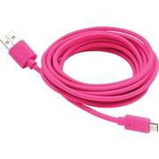Aduro Fiber Cloth Sync & Charge 10' Micro USB Cable, Pink