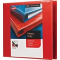 2in. Staples® Heavy-Duty View Binders with D-Rings, Red