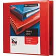 """2"""" Staples® Heavy-Duty View Binders with D-Rings, Red"""
