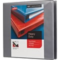 1-1/2in. Staples® Heavy-Duty View Binder with D-Rings, Light Gray