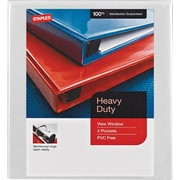 1/2 Staples® Heavy-Duty View Binder with D-Rings, White