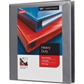 1in. Staples® Heavy-Duty View Binder with D-Rings, Gray