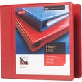 4in. Staples® Heavy-Duty View Binder with D-Rings, Red