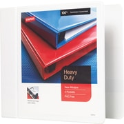 Staples Heavy-Duty 4-Inch Slant D 3-Ring View Binder, White (24696-US)