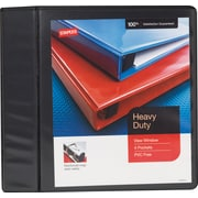 "1/2"" Staples® Heavy-Duty View Binder with D-Rings, Black"
