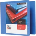 4in. Staples® Heavy-Duty View Binder with D-Rings, Periwinkle