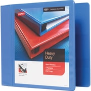 Staples 4-Inch Heavy-Duty Slant D-Ring View Binder, Periwinkle (24697-US)