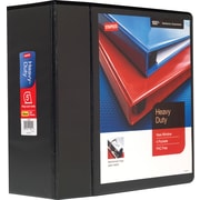 Staples Heavy-Duty 5-Inch 3-Ring View Binder, Black (24699-US)