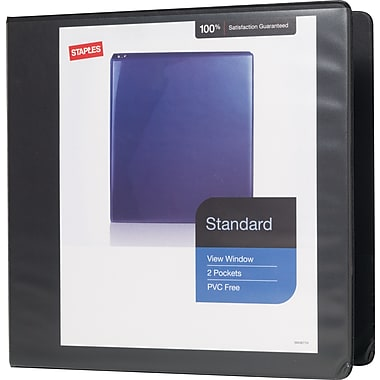 Staples® Standard View Binder with D-Rings, 3