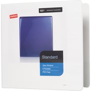 "3"" Staples® Standard View Binder with D-Rings, White"
