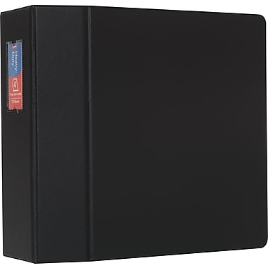 Staples Heavy-Duty 4-Inch D 3-Ring Nonview Binder, Black (24662-US)