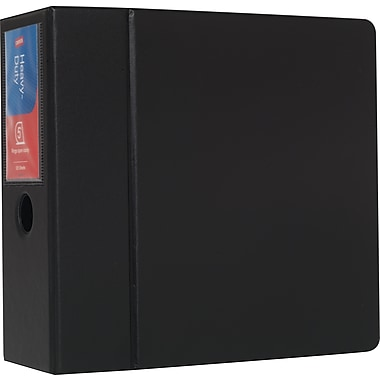 Staples Heavy-Duty 5-Inch D 3-Ring Binder, Black (24663-US)
