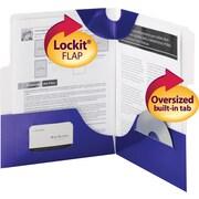 "Smead SuperTab® Two-Pocket Folders, Blue, 10""W x 11 1/2""H, 5/Pk"