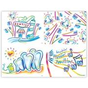 MAP Brand Dental Assorted Laser Postcards Techno Art Deluxe