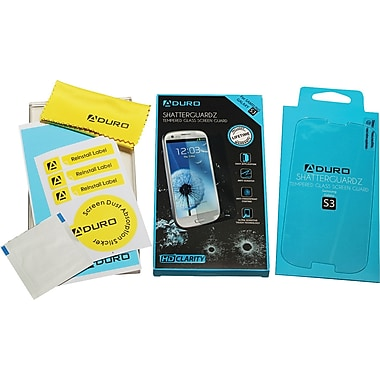 Aduro ShatterGuardz Tempered Glass Screen Protectors for Samsung Galaxy S3