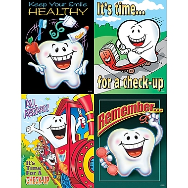 MAP Brand Dental Assorted Laser Postcards Smile Team Tooth Guy