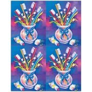 MAP Brand Dental Laser Postcards Toothbrushes in a Cup