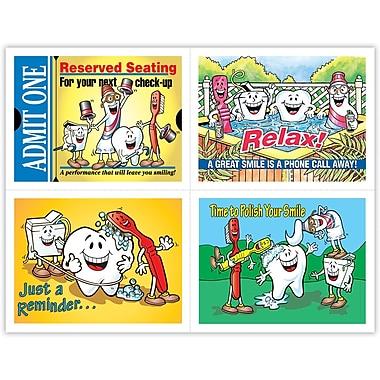 MAP Brand Dental Assorted Laser Postcards Smile Team Admit One