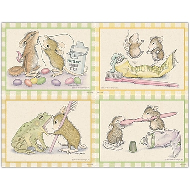House Mouse Designs Assorted Laser Postcards Brush and Dental Floss