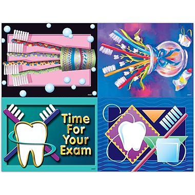 MAP Brand Graphic Image Assorted Laser Postcards Toothbrush