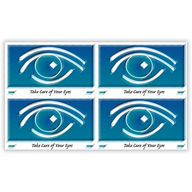 MAP Brand Eye Care Laser Postcards Blue Graphic Eye
