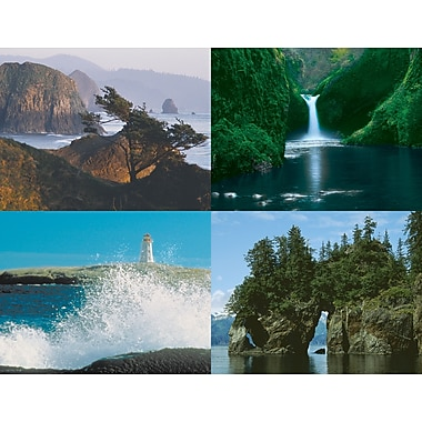 MAP Brand Generic Assorted Laser Postcards Scenic Water
