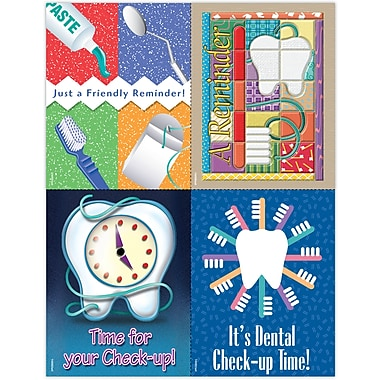 MAP Brand Dental Assorted Laser Postcards Check-Up Time