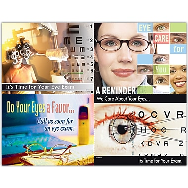 MAP Brand Eye Care Assorted Laser Postcards It's Time For Your Exam