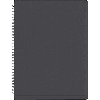 2015 Staples® Recycled Monthly Planner, Black, 8in. x 11in.