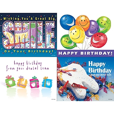 MAP Brand Graphic Image Assorted Laser Postcards Tooth