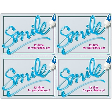 MAP Brand Graphic Image Laser Postcards Toothpaste Smile