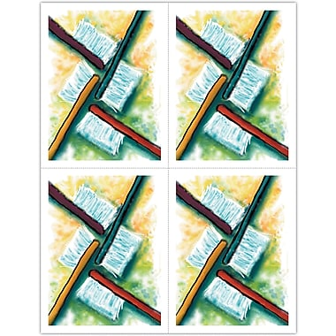 MAP Brand Graphic Image Laser Postcards Watercolor Toothbrushes