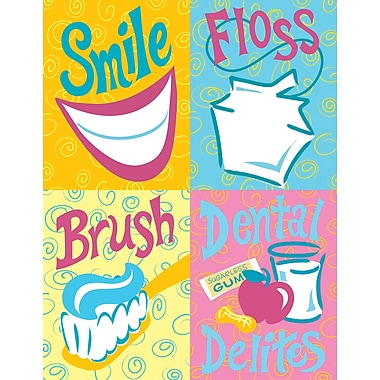 MAP Brand Graphic Image Assorted Laser Postcards Smile, Floss, Brush Delites