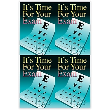 MAP Brand Graphic Image Laser Postcards Glasses Eye Chart