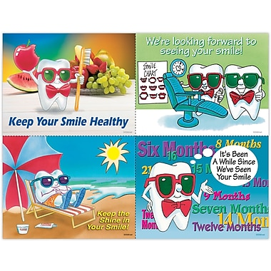 MAP Brand Toothguy Assorted Laser Postcards Healthy Smile