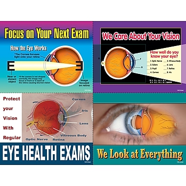 MAP Brand Graphic Image Assorted Laser Postcards Eye Exam