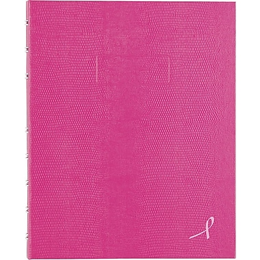 Blueline® Notepro Pink Ribbon Hardcover Notebook, 9-1/4