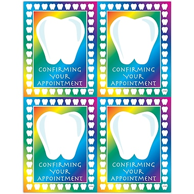 MAP Brand Graphic Image Laser Postcards Tooth Confirm