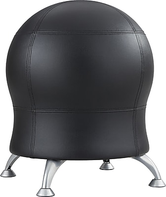 Safco Zenergy Black Vinyl Ball Chair 1064781