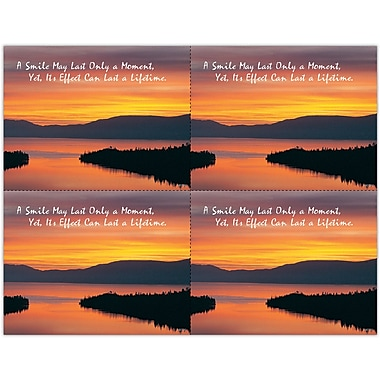 MAP Brand Scenic Laser Postcards A Smile May Last Only a Moment