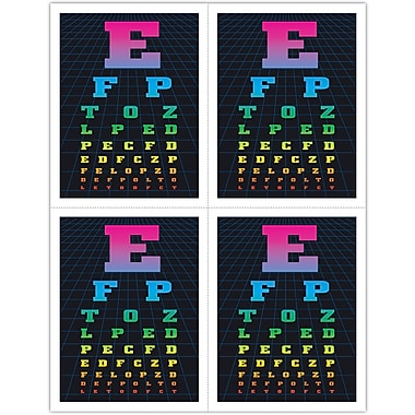 MAP Brand Graphic Image Laser Postcards Eye Chart