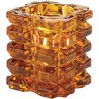 Hollowick 5151A, Faceted Cube Tealight Lamp Amber