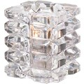 Hollowick 5151C, Faceted Cube Tealight Lamp Clear