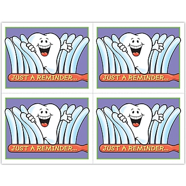 MAP Brand Smile Team Laser Postcards Toothbrush Peek-a-boo