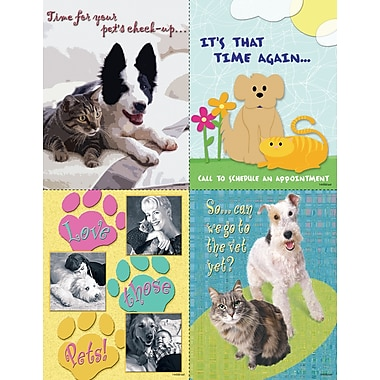 MAP Brand Graphic Image Assorted Laser Postcards, Reminders