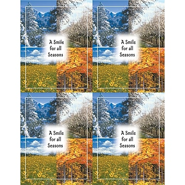 MAP Brand Scenic Laser Postcards A Smile for all Seasons